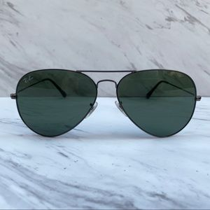 😎 Ray-Ban Aviator Classic RB3026 Gunmetal Large